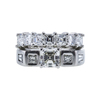0.87 ct. Asscher Cut Bridal Set Ring, J-K, VVS2-VS1 #2