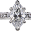 1.28 ct. Marquise Cut Solitaire Ring, F, I1 #4