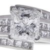 2.55 ct. Princess Cut Ring, F-G, I1-I2 #1