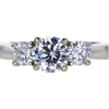 1.01 ct. Round Cut 3 Stone Ring, D, I1 #3