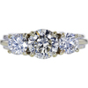 1.08 ct. Round Cut 3 Stone Ring, I, SI2 #3