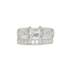 1.08 ct. Princess Cut Bridal Set Ring, H-I, VS2 #2