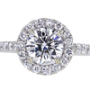 1.08 ct. Round Cut Halo Ring #1
