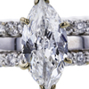2.02 ct. Marquise Cut Bridal Set Ring, F, SI1 #1