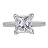2.01 ct. Princess Cut Solitaire Ring, G, VS1 #3