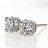 .84 ct. Round Cut Stud Earrings #2
