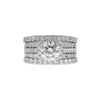 Art Deco GIA 1.89 ct. Round Cut Bridal Set Ring, L, SI1 #3
