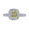 0.67 ct. Radiant Cut Halo Ring, Fancy, VS2 #3