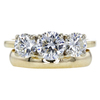 0.77 ct. Round Cut Bridal Set Ring, I, SI2 #3
