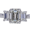 1.84 ct. Emerald Cut 3 Stone Ring #1