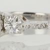 0.95 ct. Round Cut 3 Stone Ring #2
