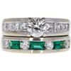1.25 ct. Round Cut Bridal Set Ring, J, SI1 #3