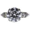 2.61 ct. Round Cut 3 Stone Ring, G, VVS2 #4