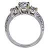 1.01 ct. Round Cut 3 Stone Ring, D, SI2 #3