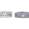 0.96 ct. Princess Cut Bridal Set Ring, I, VS2 #3