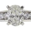 0.91 ct. Oval Cut Bridal Set Ring, E, VS2 #4