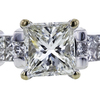 1.00 ct. Princess Cut Bridal Set Ring, I, VS1 #4