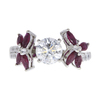 1.01 ct. Round Cut Central Cluster Ring, G, I1 #3