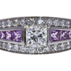 0.99 ct. Princess Cut Solitaire Ring, I, VS1 #3