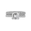1.51 ct. Emerald Cut Bridal Set Ring, I, VVS2 #3