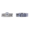 1.03 ct. Radiant Cut Bridal Set Ring, D, SI1 #2