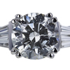 2.04 ct. Round Cut 3 Stone Ring, H, SI2 #4