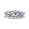 0.71 ct. Round Cut Bridal Set Ring, F, VS1 #3