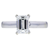 1.24 ct. Emerald Cut Solitaire Ring, G, VS2 #3