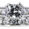 1.52 ct. Princess Cut Bridal Set Ring, H, SI2 #4