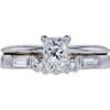 0.51 ct. Princess Cut Bridal Set Tiffany & Co. Ring, H, VVS2 #3