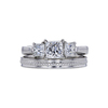0.70 ct. Princess Cut Bridal Set Ring, F, VS2 #3