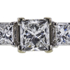 1.00 ct. Princess Cut Bridal Set Ring, F, SI1 #4