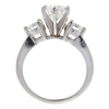 1.01 ct. Round Cut 3 Stone Ring, I, SI1 #4