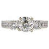 1.27 ct. Round Cut 3 Stone Ring, M, I1 #3