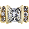 0.90 ct. Princess Cut Bridal Set Ring, I, VS2 #1