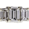 0.72 ct. Emerald Cut Bridal Set Ring, E, SI1 #4