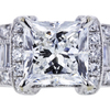 2.20 ct. Princess Cut Solitaire Ring, G, SI1 #4