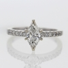 .77 ct. Marquise Cut Solitaire Ring #4