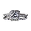 0.91 ct. Round Cut Bridal Set Ring, F, SI2 #3
