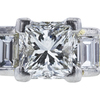 1.14 ct. Princess Cut 3 Stone Ring, H, SI1 #1