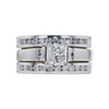 0.97 ct. Princess Cut Bridal Set Ring, H, SI2 #4