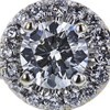 0.71 ct. Round Cut Bridal Set Ring, H, SI1 #4