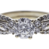 0.99 ct. Round Modified Brilliant Cut Bridal Set Ring, G, SI2 #4