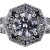0.74 ct. Round Cut Halo Ring #2