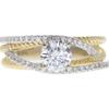 0.75 ct. Round Cut Bridal Set Ring, E, SI2 #3