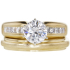 1.2 ct. Round Cut Bridal Set Ring, E, VS2 #3