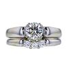 1.00 ct. Round Cut Bridal Set Ring, J, SI2 #3
