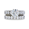 1.51 ct. Round Cut Bridal Set Ring, I, SI2 #3