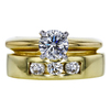 0.69 ct. Round Modified Brilliant Cut Bridal Set Ring, H, SI1 #3