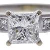 1.42 ct. Princess Cut Bridal Set Ring, G-H, SI1 #1